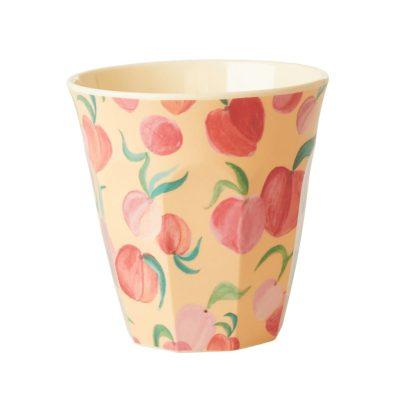 melamine cup medium perzik