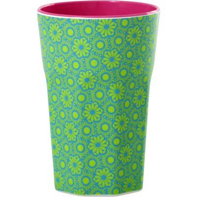 melamine cup groen met roze