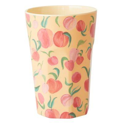 melamine cup tall perzik