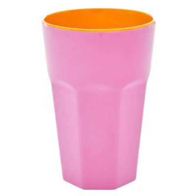 melamine cup tall roze
