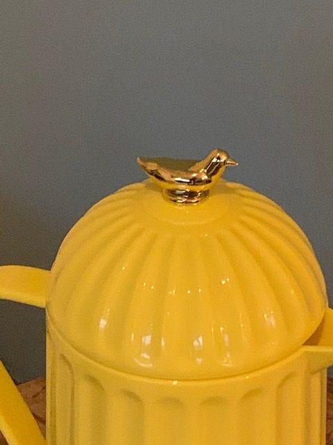 gouden vogel thermoskan