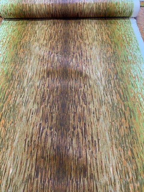 retro stof groen 120cm breed