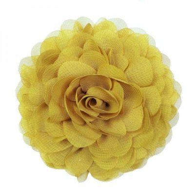 bloem haarspeld geel