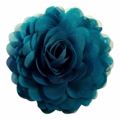 haarspeld blauw chiffon