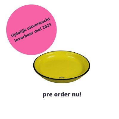 gebaksbordje geel