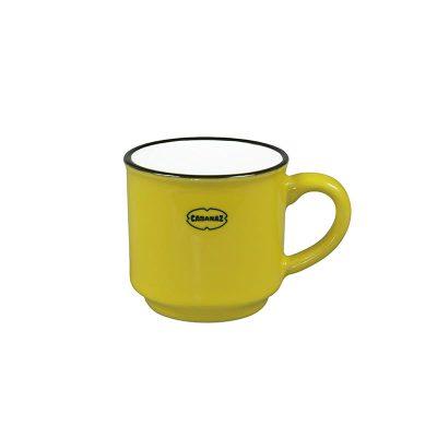 espresso kopje geel keramiek