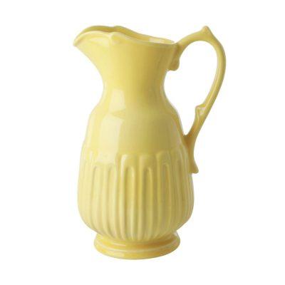 waterkan keramiek geel