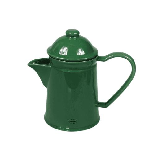 thee pot donkergroen keramiek