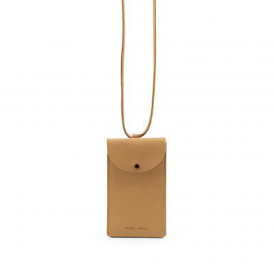 telefoontasje licht bruin