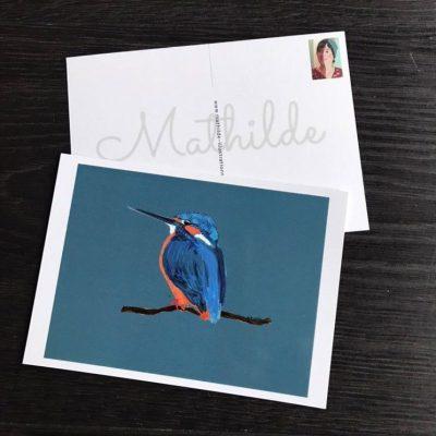 ansichtkaart met vogel