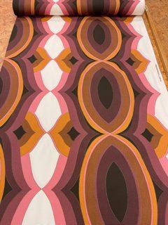 vintage stof paars roze