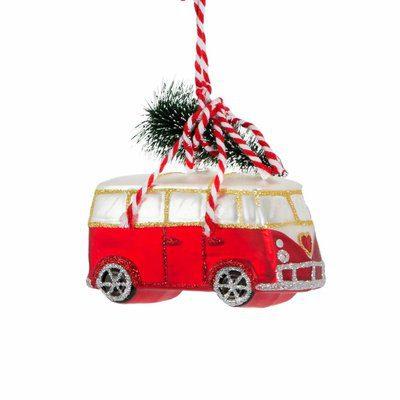 kerst decoratie camper vw-busje