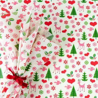 kerst vloeipapier inpakken